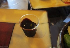 The salad dressing was cacao and balsamic vinegar, very different and very interesting.