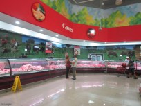 The meat department (which includes an actual deli section on the right, out of view