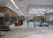 Upstairs, looking towards the electronics and accessories department