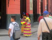 There were quite a few of these colorful women around, probably willing to pose for photos for a price