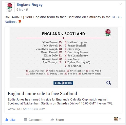 Rugby and Social Media