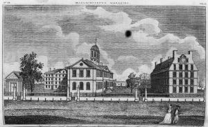 View of the colleges at Cambridge, Massachusetts. Courtesy of the Library of Congress.