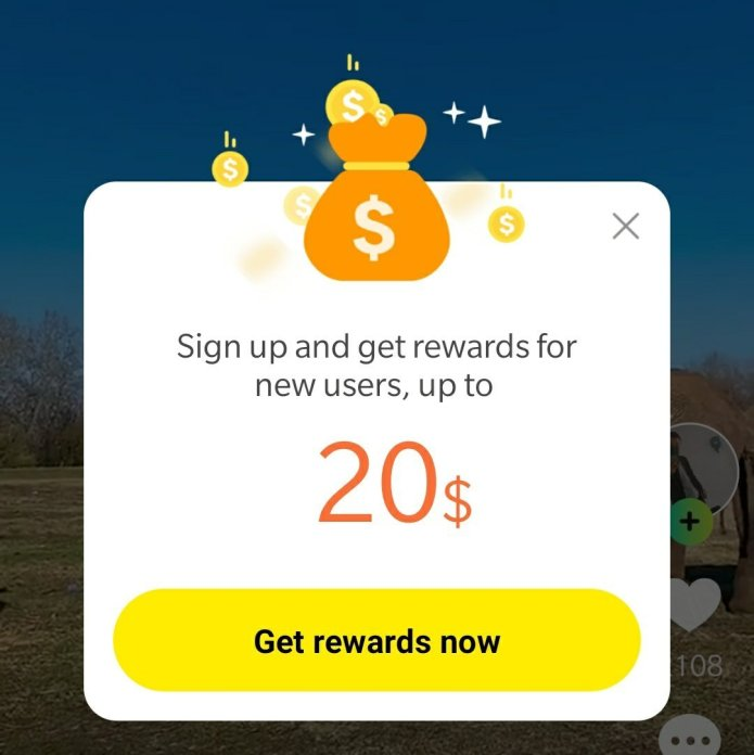 On Signing up on Zynn , you get 20$