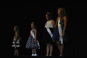 The winners of each section of the Little Miss competition go on stage during the break.