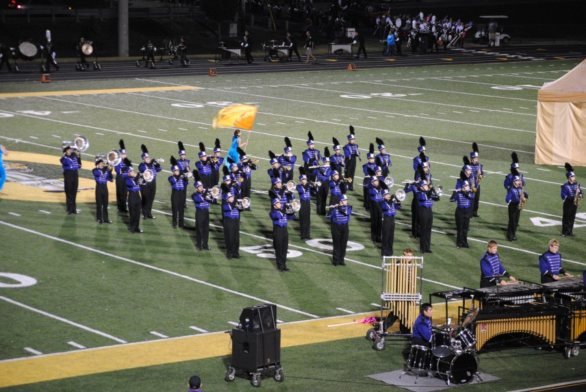 The band forms a block in part 2.