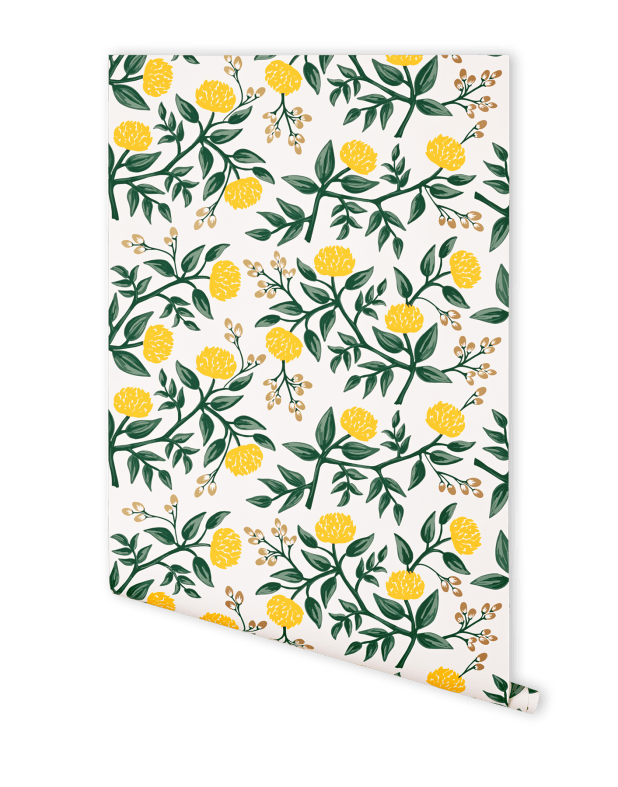 peonies-yellow-wallpaper