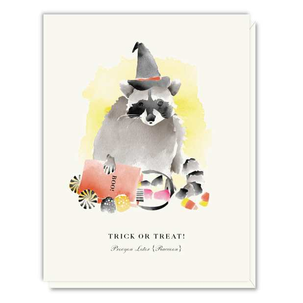 A015 Trick Or Treat Raccoon