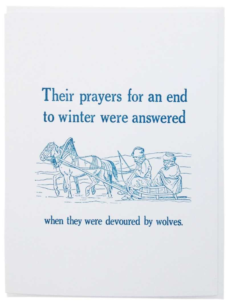 THEIR PRAYERS DEVOURED WOLVES
