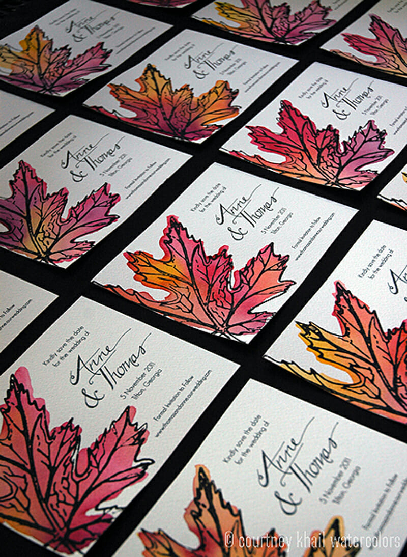 maple leaf save the date_ courtney khail