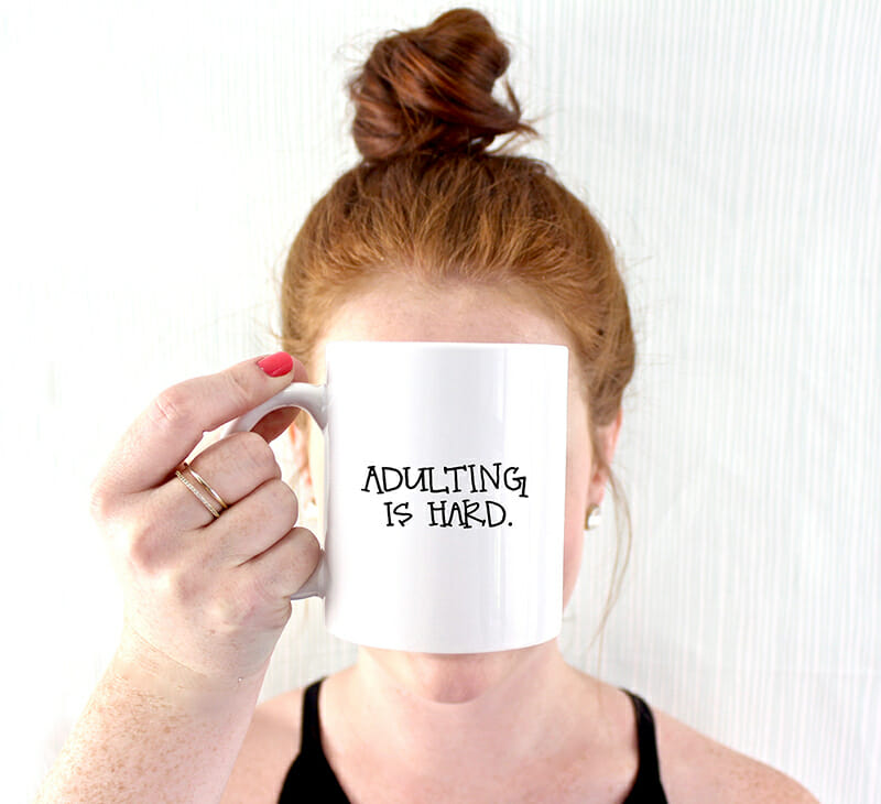 Fresh Out of Ink - Adulting Is Hard Mug - 72dpi 800px