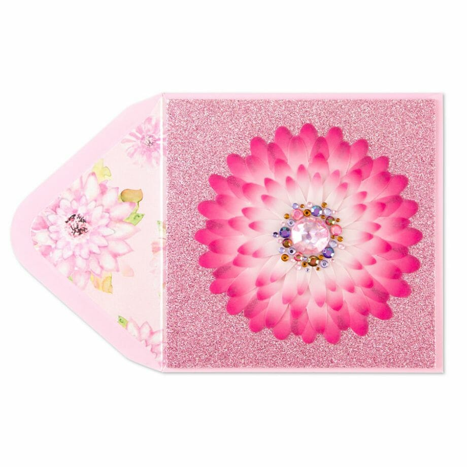 Taylor Swift- Gemmed Flower Card