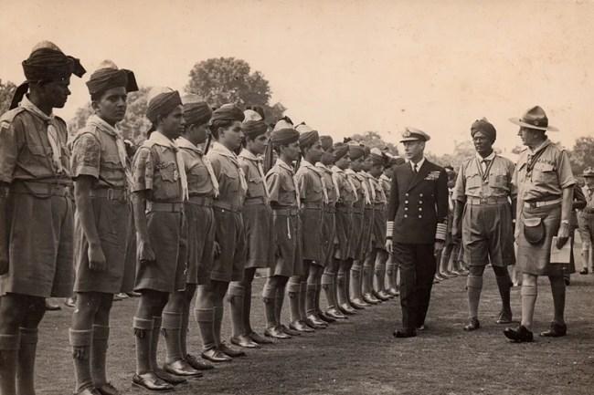 Indian contingent scouts in Paris, 1947 (Source: FPJ Bureau)