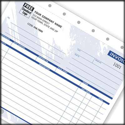 Custom imprinted Invoice
