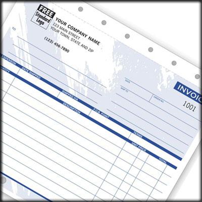 Custom imprinted Invoice