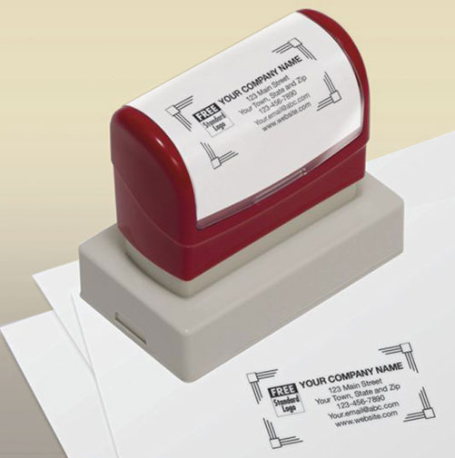Stamp with your name and message