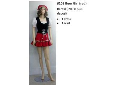109 Beer Girl (red)
