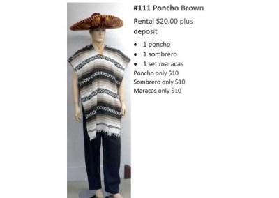 111 Poncho Brown