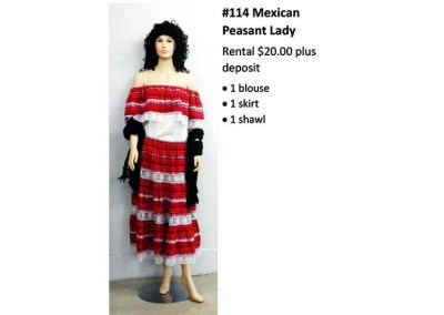 114 Mexican Peasant Lady