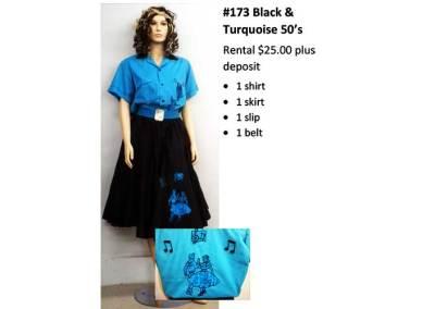 173 Black & Turquoise 50's