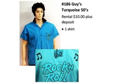 186 Guy's Turquoise 50's