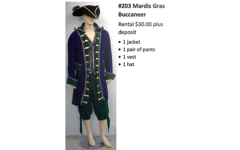 203 Mardis Gras Buccaneer