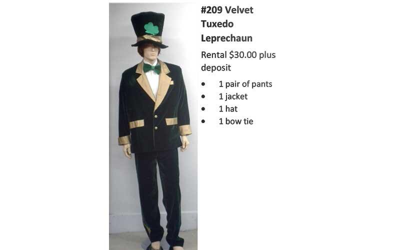 209 Velvet Tuxedo Leprechaun