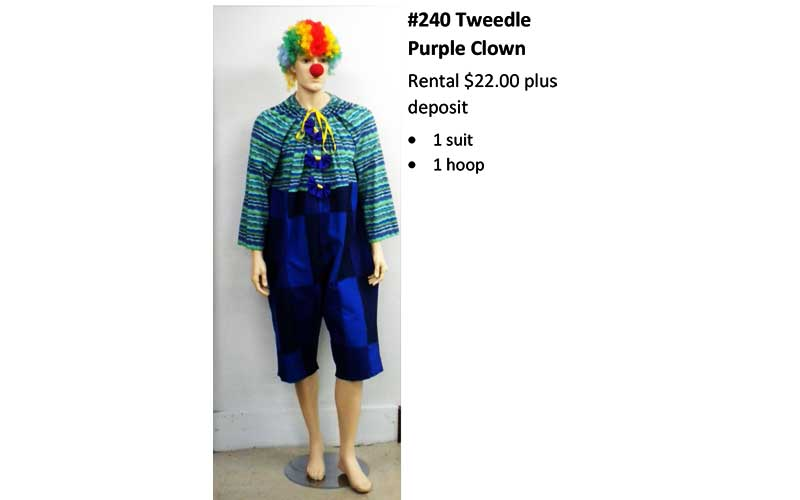 240 Tweedle Purple Clown