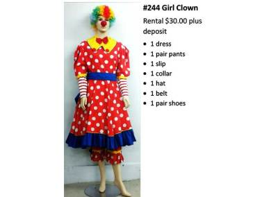 244 Girl Clown