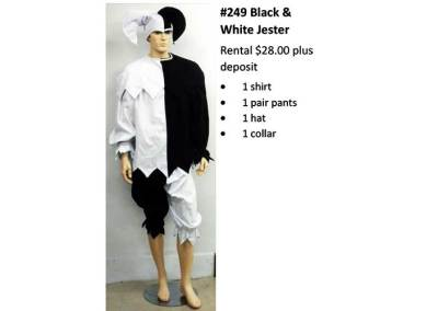 2449 Black & White Jester
