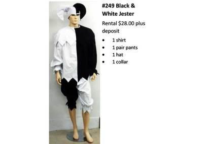 2449 Black & White Jester