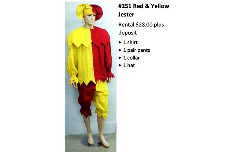 251 Red & Yellow Jester