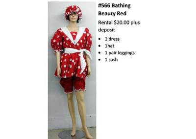 566 Bathing Beauty Red