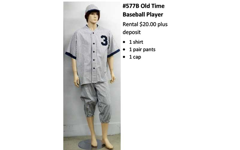 577B Old Time Baseball Player