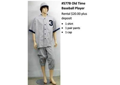 577B Old Time Baseball Player