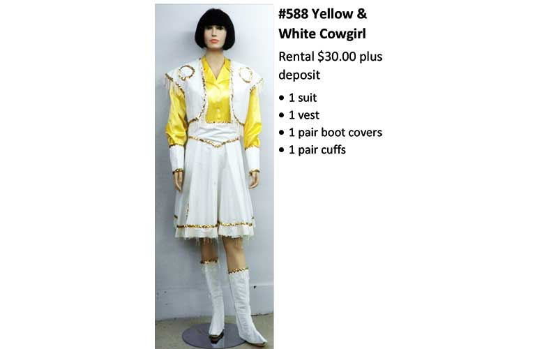 588 Yellow & White Cowgirl