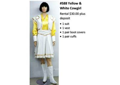 588 Yellow & White Cowgirl
