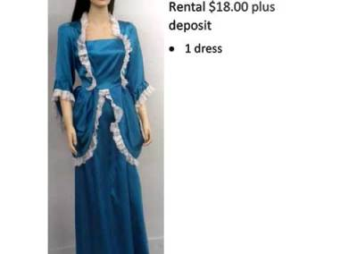 735 Blue Colonial Dress