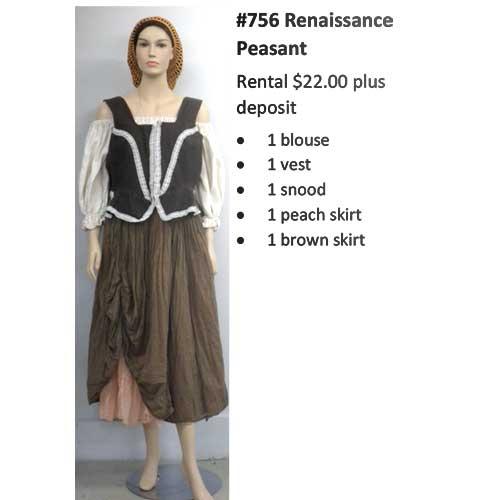 756 Renaissance Peasant