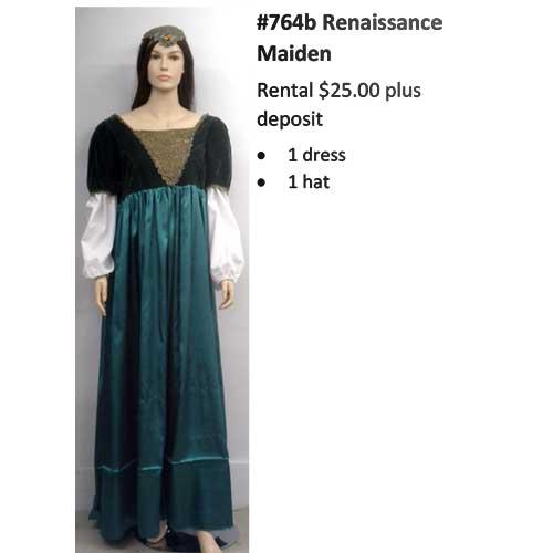 764A Renaissance Maiden