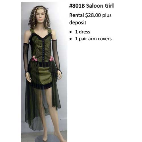 801B Saloon Girl