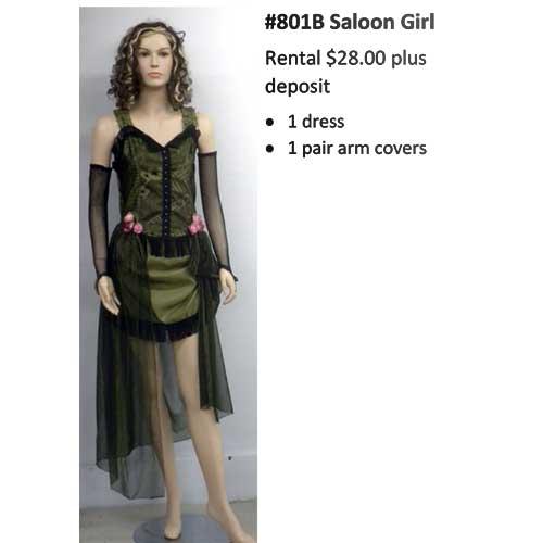 801B Saloon Girl