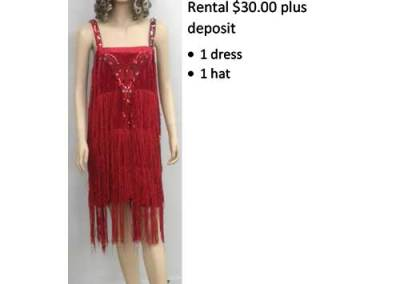 819 Deluxe Red Flapper