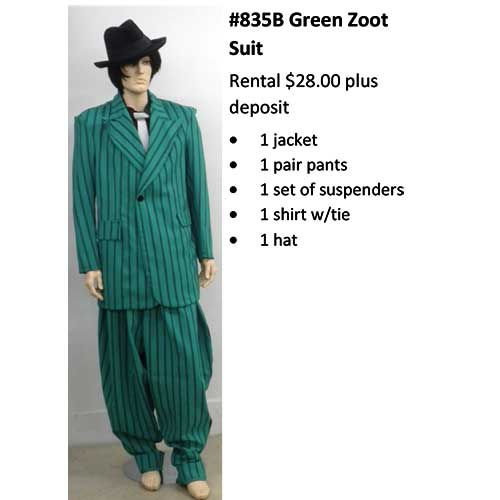 835B Green Zoot Suit