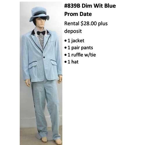 839B Dim Wit Blue Prom Date