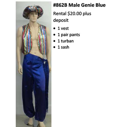 862 Male Genie Blue
