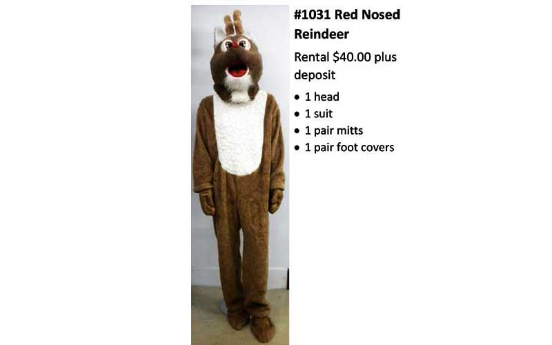 Red-Nosed-Reindeer Costume