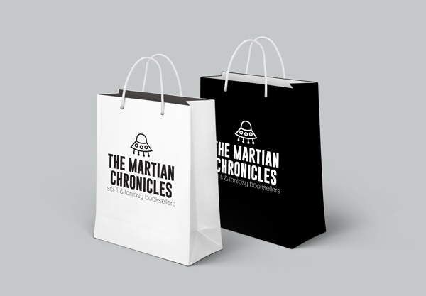 branded bags for science-fiction bookshop