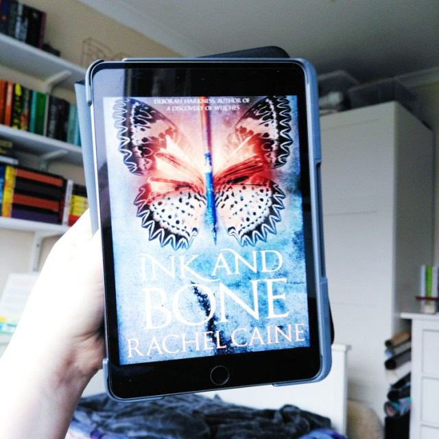 Ink and Bone cover displayed on ipad screen
