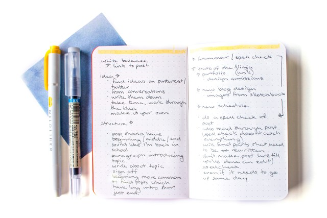 how to write a blog post field notes notebook