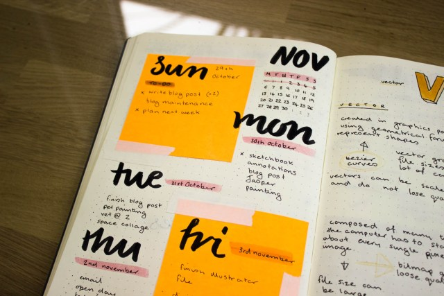 stay organised to manage cfs bullet journal